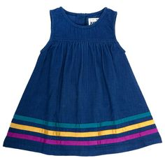 Kite Clothing Baby Girls Rainbow trim pinafore - Baby Girl Dress - Ideas of Baby Girl Dress Baby Girl Frocks, Frocks For Girls, Dresses Kids Girl, Toddler Dress, Toddler Outfits, Kids Outfits, Infant Toddler, Baby Frocks Designs, Kids Frocks Design