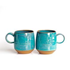Just two of these mugs left...and then this color is gone forever (or at least until I have time to experiment with some new glaze recipes)!