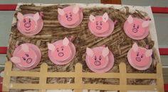 Pig Pen Craft - letter P preschool craft Farm Theme Crafts, Farm Animal Crafts, Animal Crafts For Kids, Art For Kids, Farm Animals Preschool, Preschool Crafts, Farm Day, Farm Activities, Three Little Pigs