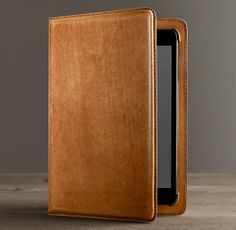 Artisan Leather Hard Shell iPad® mini Cover with Bluetooth® Keyboard – Camel | Restoration Hardware