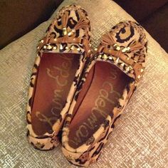 Sam Edelman loafers Leather upper and lining. Leopard print. Mohair fabric. See third picture. Excellent condition. Almost no wear. Sam Edelman Shoes Flats & Loafers