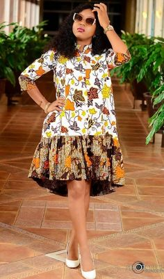 Lovely Unique Ankara Dress Styles for Beautiful Ladies African Dresses For Kids, Latest African Fashion Dresses, African Dresses For Women, African Attire, African Print Skirt, African Print Dresses, African Print Fashion, Ankara Mode, Africa Dress