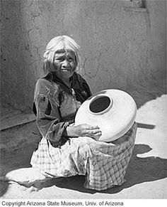 Renowned Hopi-Tewa potter, Nampeyo No date or photographer noted.