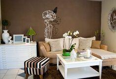 www.paredes decoradas tons de marrom - Pesquisa Google