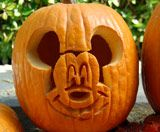 Mickey Mouse pumpkin template- just carved one and it looks great!