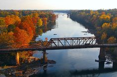 This is a photograph of autumn along the Tallapoosa River in Alabama. Carrollton Georgia, Autumn Walks, Sweet Home Alabama, Flora, Lake Life, Train Travel, Country Life, Day Trips, Scenery