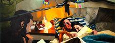 """""""Fogo Fácil"""" traz obras que retratam os momentos de confronto, dúvidas e barreiras nas relações entre homem e mulher. Com entrada Catraca Livre, fica em cartaz até 28 de abril na Choque Cultural."""