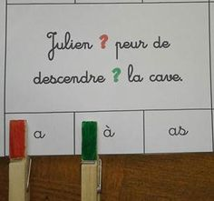 French Multiple Choice Clip Cards - great to practice homophones - Cartes à choix multiples - en français