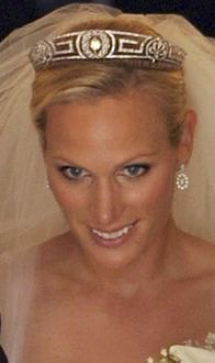 The Meander Tiara; worn by Zara Phillips for her wedding to Mike Tindall. Loaned to her by her mother Princess Anne.