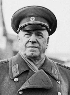 Gueorgui Konstantínovich Zhúkov, político, militar y mariscal de la Unión Soviética, considerado uno de los comandantes más destacados de la Segunda Guerra Mundial.
