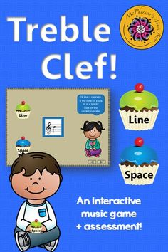 This interactive elementary music game will reinforce reading notes on the treble clef staff by first determining if the note is on a line or space! Engaging music education resource!