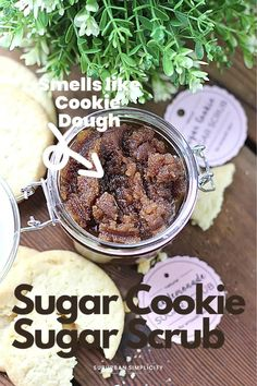 This easy DIY Sugar Cookie Sugar Scrub recipe smells amazing and gives you naturally soft skin. It's so exfoliating! It also makes a wonderful gift. FREE printable gift tags included! Sugar Scrub Recipe, Sugar Scrub Diy, Free Printable Gift Tags, Fun Crafts For Kids, Cool Diy Projects, Skin So Soft, Sugar Cookies, Cookie Dough, Food Videos