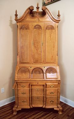Curly Maple Secretary. Having Admired A Secretary Built Out Of Curly Maple,  And Having