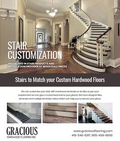Gracious hardwood flooring Inc. is the best store near you, specialised in stair products and installation provider at wholesale prices. Call Now: Laminate Colours, Hardwood Floors, Flooring, Staircases, Tile Design, Ontario, Aurora, Toronto, Stairs