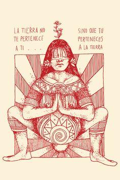 Art And Illustration, Arte Latina, Birth Art, Aztec Culture, Protest Art, Sacred Feminine, Hippie Art, Psychedelic Art, Native American Art