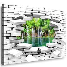 Vlies Fototapete / Poster XXL /3D Wandillusion /Loch in der Wand *Birkenwald*