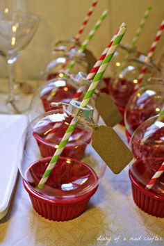 Dollar Store Christmas Ornament Glasses for a Christmas Party