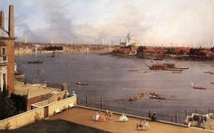Canaletto, The Thames and the City of London from Richmond House, 1747, via Flickr