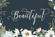 Excuse me while I obsessively pin this fabulous calligraphy font. Ag! I die. So pretty. Such a deal.