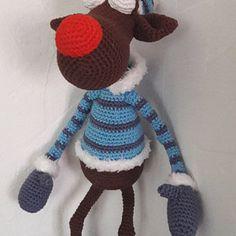 Amigurumi Pattern - Rudolf the Reindeer XL - English Version Marque-pages Au Crochet, Crochet Amigurumi, Crochet Hooks, Lady Bug, Half Double Crochet, Single Crochet, Christmas Crochet Patterns, Crochet Christmas, Crochet Bookmarks