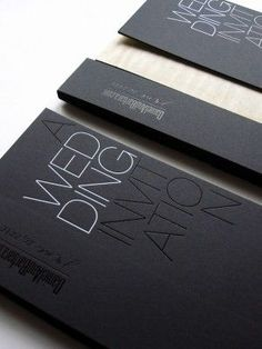 Black White Modern Wedding Invitation4 300x400 Best of 2010 Wedding Invitations: Metallics + Foils by YvetteLansell