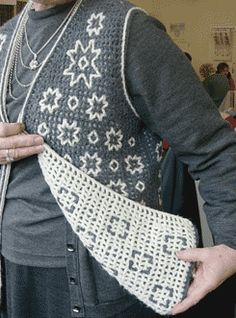 ao with <3 / Double Filet Crochet - also called Intermeshing and Interlocking