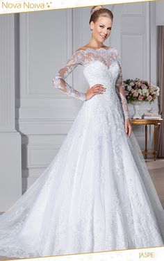 Cheap dress wear wedding, Buy Quality wedding gift bag tags directly from China wedding dress online store Suppliers: Vestido De Noiva White Strapless Romantic Wedding Dresses Ball Gown Pearls Bridal Gown Lace Up Back Tulle Wedding dress Bateau Wedding Dress, Wedding Gowns With Sleeves, 2015 Wedding Dresses, Long Sleeve Wedding, Bridal Dresses, Lace Wedding, Floral Wedding, Rustic Wedding, Ball Dresses
