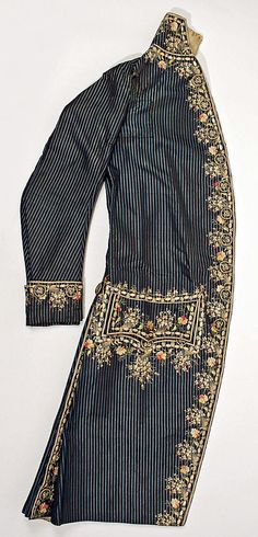 Man's ensemble, c 1780, French, silk. Metropolitan Museum of Art