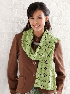 Wrap It Up Scarf | Yarn | Free Knitting Patterns | Crochet Patterns | Yarnspirations