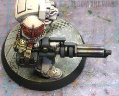 Warhammer 40k heat stained gun barrels example