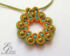 Diy Necklace, Washer Necklace, Soutache Tutorial, Soutache Earrings, Diy Hair Accessories, Shibori, Diy Hairstyles, Beaded Embroidery, Earrings Handmade