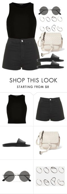 """Sin título #12719"" by vany-alvarado ❤ liked on Polyvore featuring River Island, Topshop, Bottega Veneta, Yves Saint Laurent and ASOS"