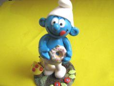 Resultado de imagem para bolos decorados smur