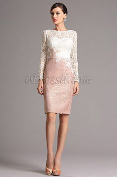 Long Sleeves Lace Mother of the Bride Dress Daily Dress