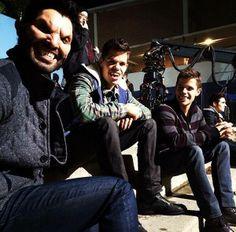 Tyler Hoechlin, Charlie Carver and Max Carver on the set of Teen Wolf Season3B!