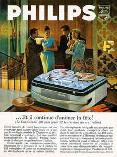 Philips Continental 401 Reel to Reel Player (France) 1964