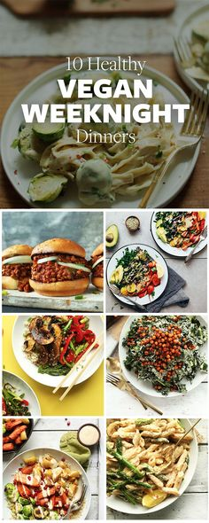 Ten healthy, 30-minute dinners to help you with meal planning when life gets busy! The ingredients and methods are simple, and the flavor is BIG! http://healthyquickly.com