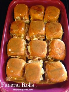 Funeral Rolls are simply the best sandwich and so easy to make.  My husband loves this appetizer!