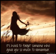 it's hard to forget...