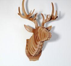 Big Deer head Cardboard Animal head 3D Puzzle by Dreamlightforyou