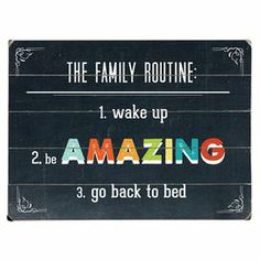 A quaint addition to your home bar or bedroom, this plank-style wall decor showcases a whimsical multicolor text motif.   Product: Wall decorConstruction Material: Wood Features:  Great addition to any roomReady to hang   Cleaning and Care: Wipe with damp cloth