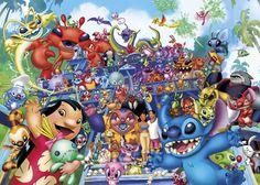 D-2000-546 Tenyo Disney Stitch Characters Japan Jigsaw Puzzles