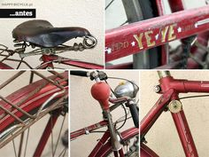 This 1977 Yé-Yé Esmalina Steel Bike came to us to be completely restored after a few messages exchanged with Mark – a Portuguese-descendant American who discove Bicycle Store, Bike, Restoration, Steel, Happy, Bike Store, Bicycle, Bicycles, Ser Feliz