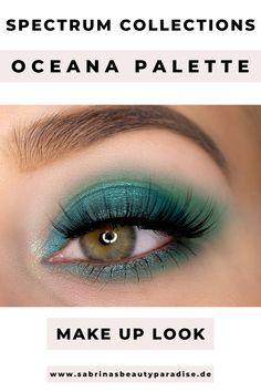 Grünes Augen Make-up mit der Oceana Lidschattenpalette von Spectrum Collections. Tierversuchsfreie Lidschattenpalette mit 9 Farben. Ich teste die Palette und zeige Dir 3 Augen Makeup Looks Inspiration. Zu diesem AMU findest du außerdem eine Step by Step Schminkanleitung. #eyemakeup #augenmakeup #makeuprevieew