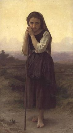 William Adolphe Bouguereau - A Little Shepherdess