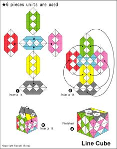 Origami Check Cube instructions
