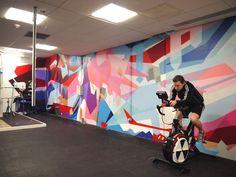 Bath university gym mural