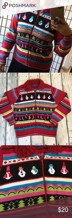Ugly Christmas sweater cardigan snowman size Small Preowned Woman's ugly Christmas sweater cardigan size small  Karen Scott sport 🛑 has 2 stains on front sleeve and a yarn coming up see last photo  All Christmas sweaters are preloved I have described to the best of my knowledge all sweaters have fuzzies. All sweaters have normal sweater wear if it has stains or holes I will say them in the description Karen Scott Sweaters Cardigans