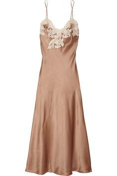 La Perla Maison lace-trimmed silk-blend satin chemise NET-A-PORTER.COM