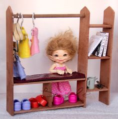 Clothes rack made of real red wood.   You can find it in my ETSY store (the link is in my profile).